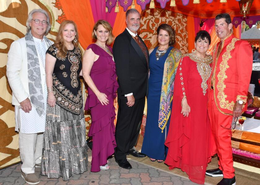 Bob Salt and Patti Judd (she's PoP president), Christina Jordan (gala co-chair), Stephen and Lynne Doyle (she's gala co-chair), Nancie and Marc Geller (she's gala co-chair)