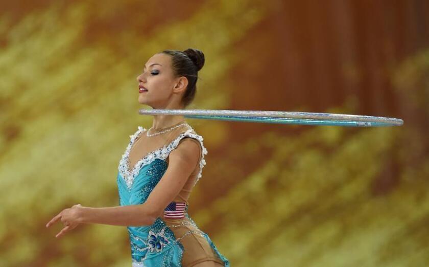 Evita Griskenas, gimnasta estadounidense EFE/Borislav Troshev/Archivo