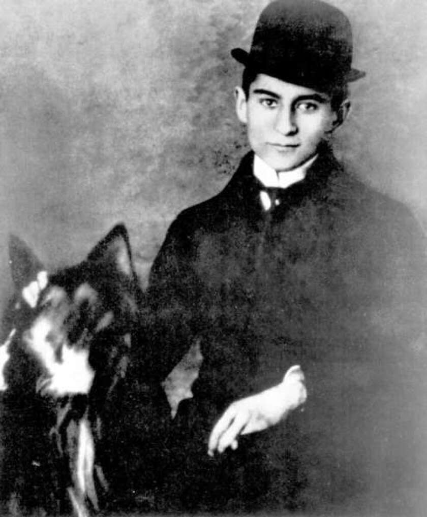 "A young Franz Kafka, author of ""The Metamorphosis,"" ""The Trial"" and other works."
