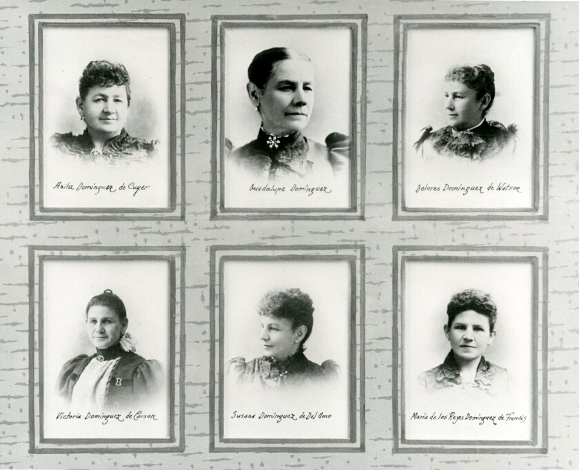 The six daughters of Manuel Dominguez and Maria Engracia Cota.