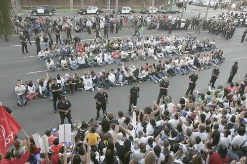 Protest, arrests