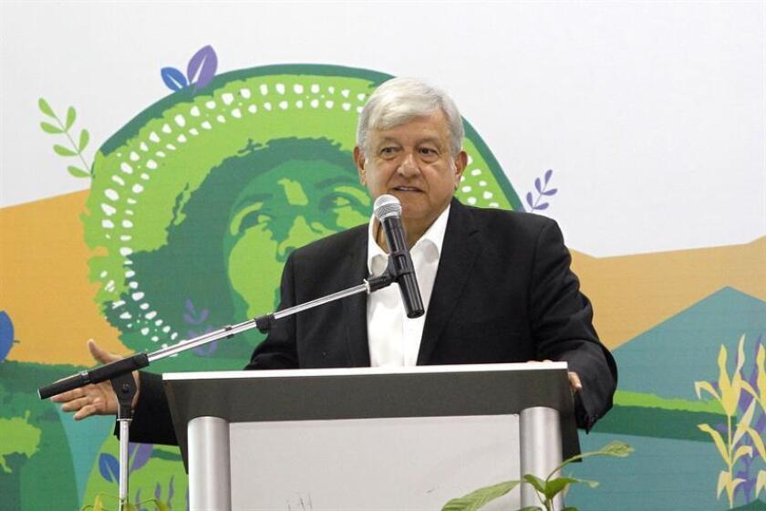 El presidente electo de México, Andrés Manuel López Obrador, informó hoy que propondrá apodar T-MEC al nuevo tratado comercial con Estados Unidos y Canadá que sustituye al TLCAN después de que este apodo ganara una encuesta en las redes sociales del futuro mandatario. EFE/ARCHIVO