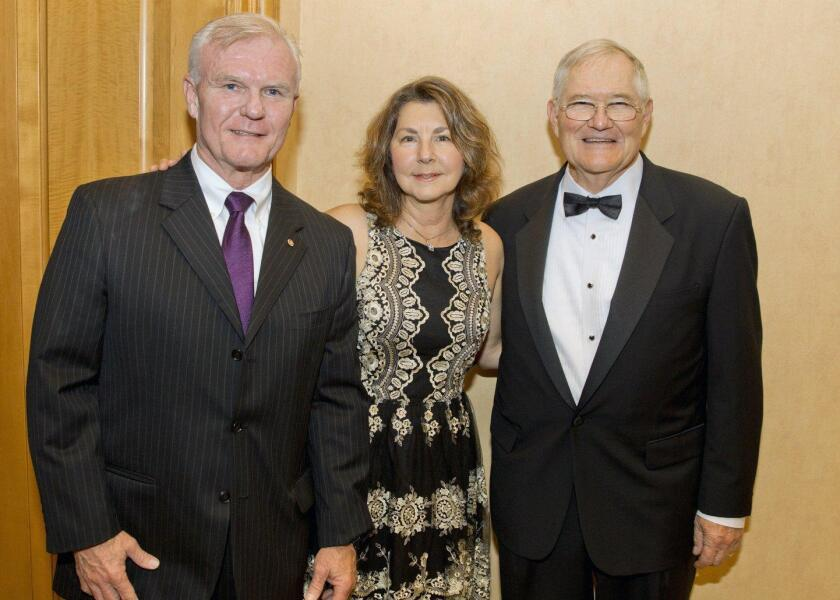 David Tweedy (Immediate Past Chairman of the Tri-City Hospital Foundation), Gale Tweedy, John Todd (Vice Chairman, Tri-City Hospital Foundation)
