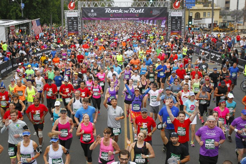 Runners won't be on the streets of San Diego on Sunday for the Rock 'n' Roll Marathon and Half Marathon. The event has been moved to September, if it is held at all, due to the pandemic.