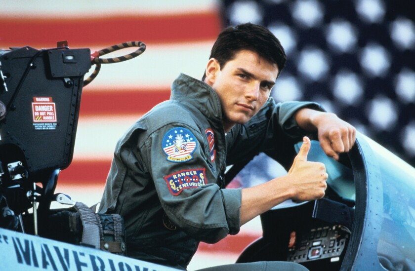Tom Cruise is Maverick in the movie TOP GUN 3D, from Paramount Pictures.