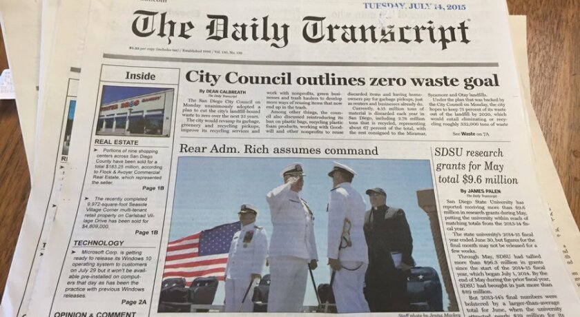 A new version of The Daily Transcript will start publishing next week.