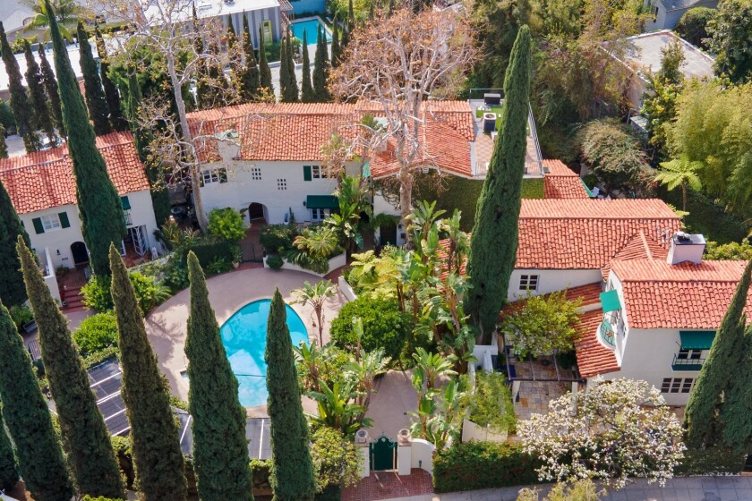 Built in 1926, the Spanish-style villa enjoys the status as a Los Angeles Historic Cultural Monument.