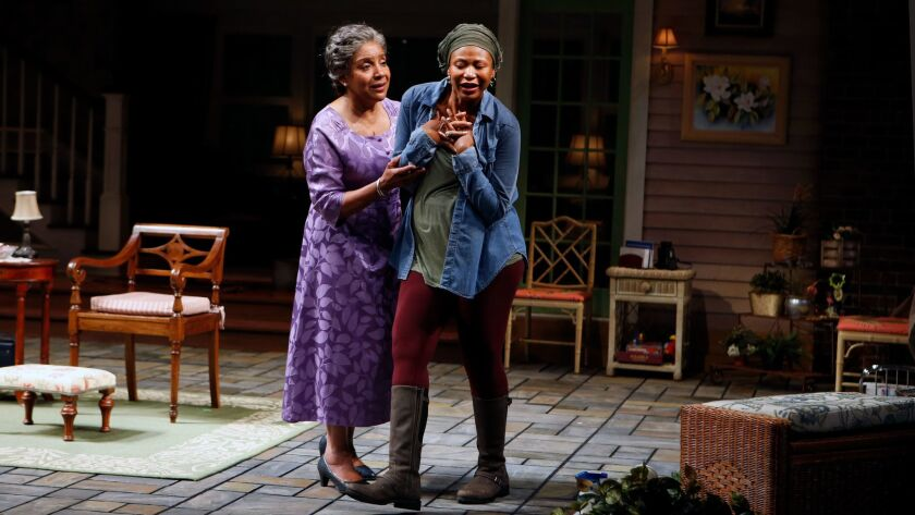 """Phylicia Rashad as Shelah, and Alana Arenas as Cookie in """"Head of Passes"""" at the Mark Taper Forum."""