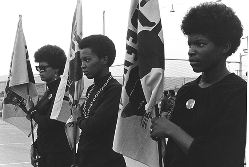 "A scene from ""Black Panthers: Vanguard of the Revolution"" by Stanley Nelson."