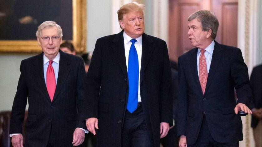 Trump meets with Senate Republicans on Capitol Hill, Washington, USA - 26 Mar 2019