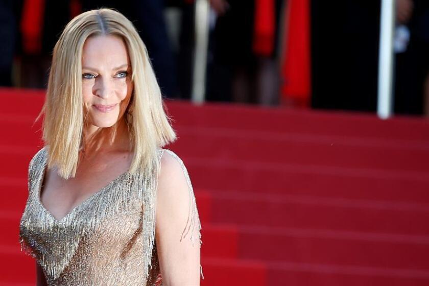 La actriz Uma Thurman reveló hoy un ataque sexual de parte de Harvey Weinstein en Londres, y recordó que ya entonces le advirtió que si repetía esos actos la carrera del productor de Hollywood se derrumbaría. EFE/EPA/Archivo