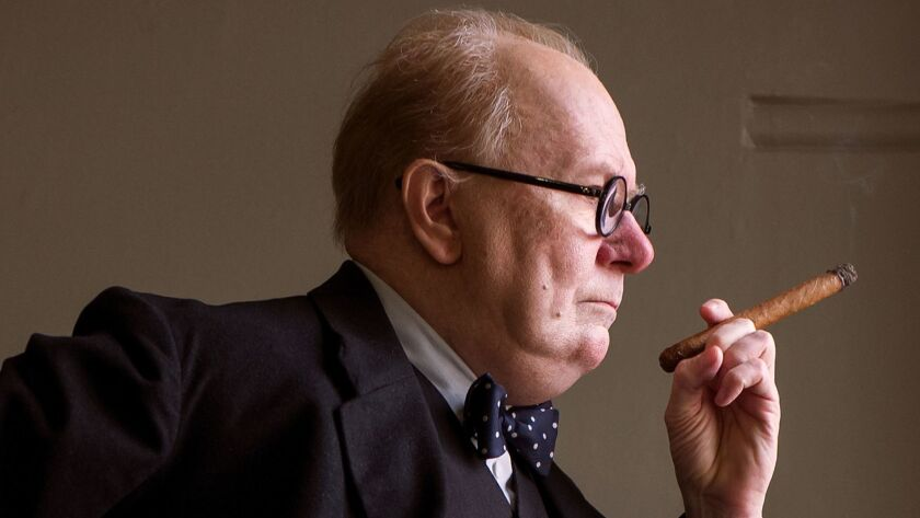 """This image released by Focus Features shows Gary Oldman as Winston Churchill in a scene from """"Darkes"""