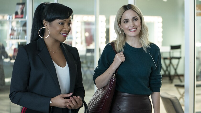 Tiffany Haddish, left, and Rose Byrne in the movie 'Like a Boss'