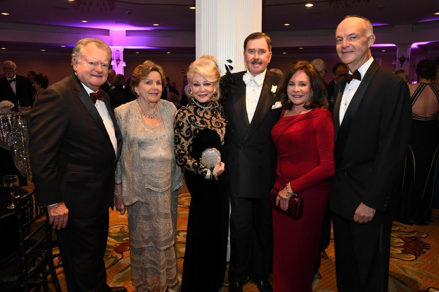 John Thornton, Anne Evans, Phyllis and John Parrish (she's ball chair), Drs. Jean Wickersham and Donald Kearns (he's Rady Children's President/CEO)