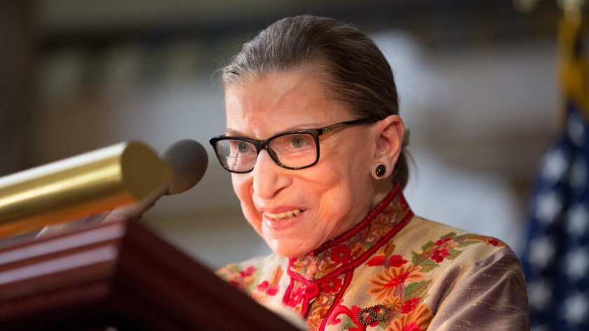 FILE: Ruth Bader Ginsburg Undergoes Surgery For Cancerous Growth