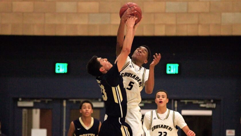 Jaylen Hands (5), formerly of Mater Dei Catholic, will be in the lineup for Foothills Christian this season.