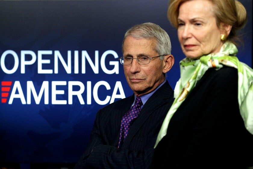 Dr. Fauci and Deborah Brix