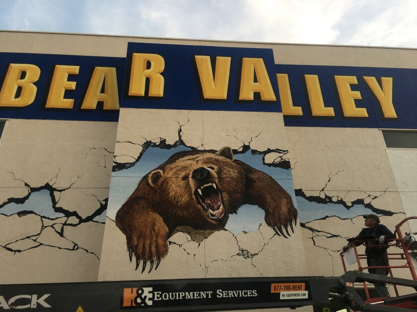 Bear Valley Middle School's Associated Student Body team saved money for three years to finance a mural.