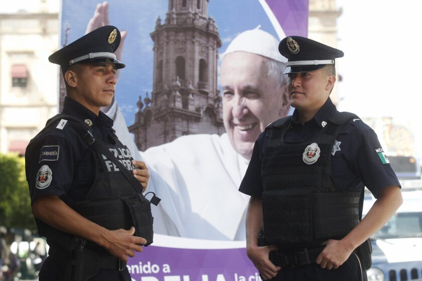 Security ahead of Pope visit
