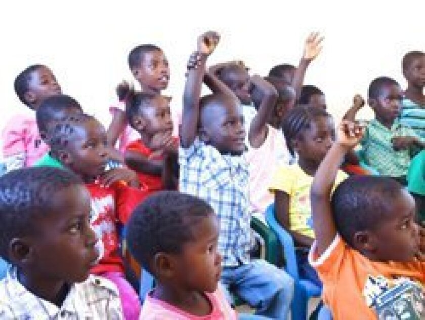 Students at Joy to the World kindergarten in Namibia, Africa.