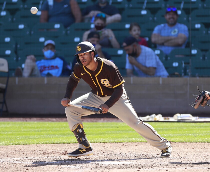 Trent Grisham will be on the injured list when the Padres start the season Thursday.