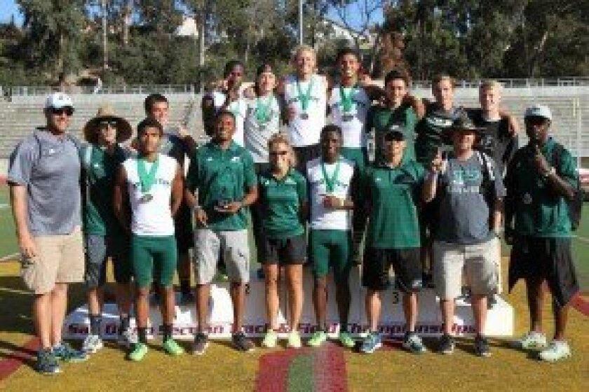 The Poway High boys track and field team captured it second straight Division I section team title. Photo by Sherri Cortez