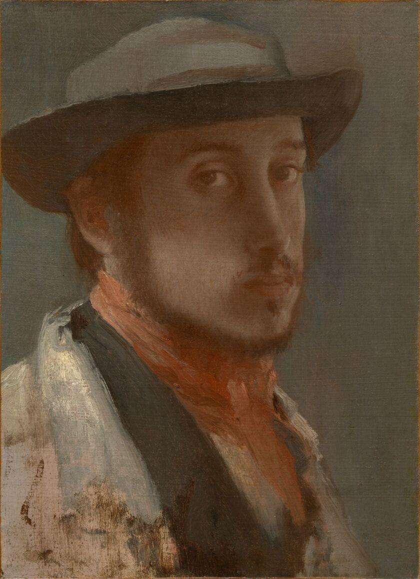 "Edgar Degas, ""Self-Portrait,"" circa 1857-58, oil on paper"