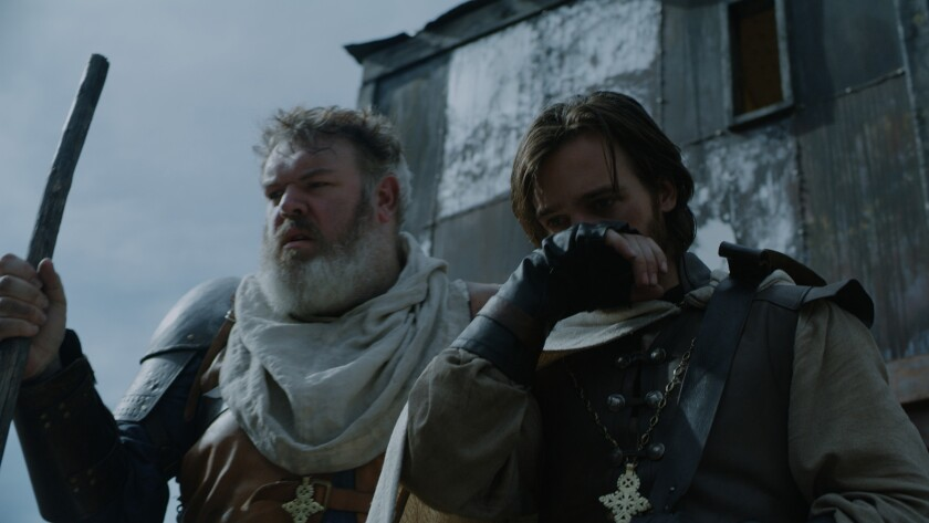 (L-R) Kristian Nairn as Johnny and Jake Stormoen as Mateho in the medieval horror, thriller film ?TH