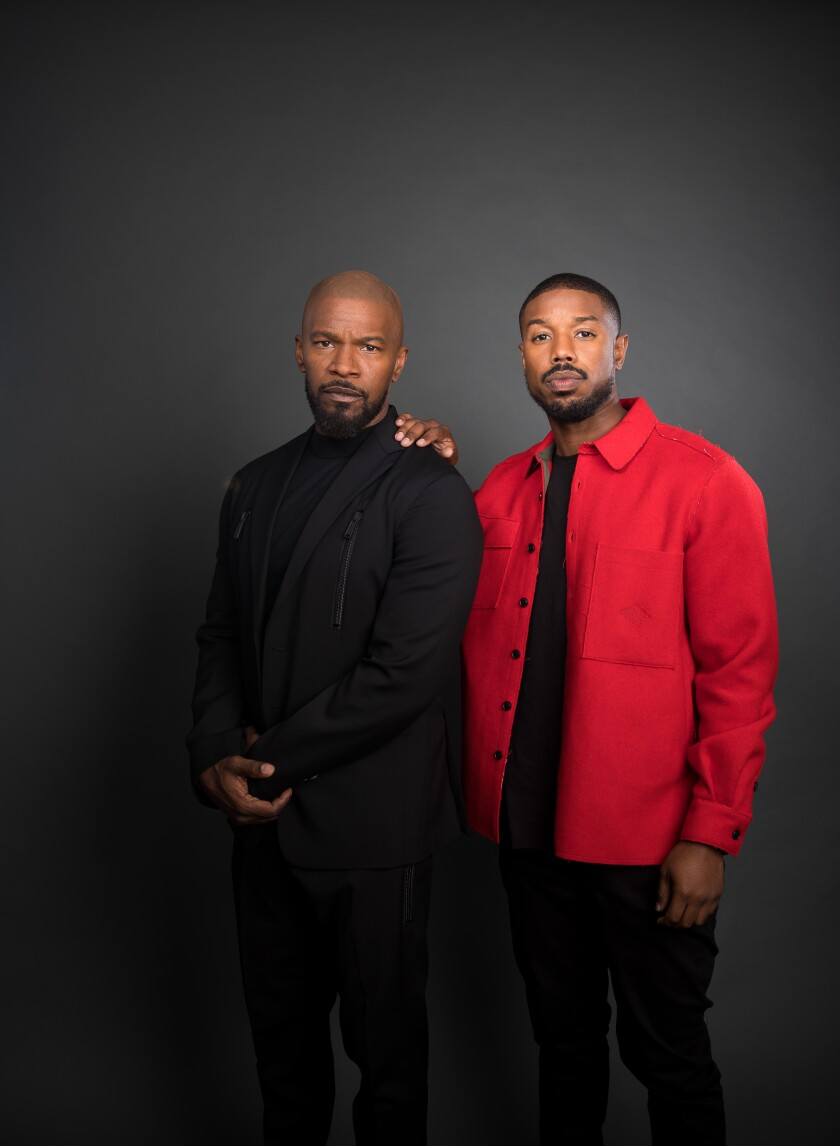 "Jamie Foxx and Michael B. Jordan star in ""Just Mercy."""