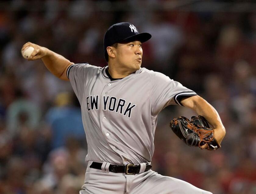 El lanzador de los Yanquis de Nueva York se perdió un mes la temporada pasada luego de lesionarse los dos músculos isquiotibiales mientras corría las bases el 8 de junio contra los Mets de Nueva York. EFE/Archivo