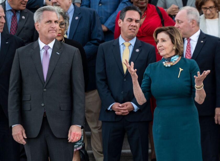 House Speaker Nancy Pelosi and Minority Leader Kevin McCarthy