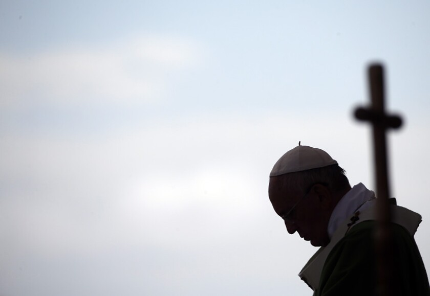 El papa Francisco durante la celebración de una misa en Asunción, Paraguay, el domingo 12 de julio.