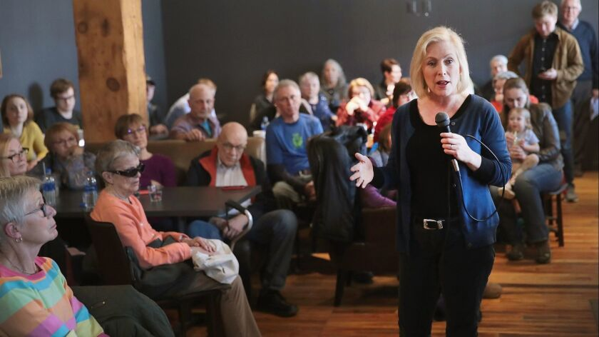 Kirsten Gillibrand Campaigns In Iowa After Officially Declaring Presidential Run