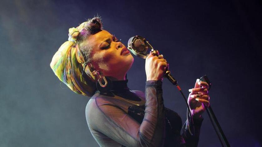 Andra Day recently performed at The Theatre at Ace Hotel in downtown Los Angeles on January 21. (Joshua Blanchard)