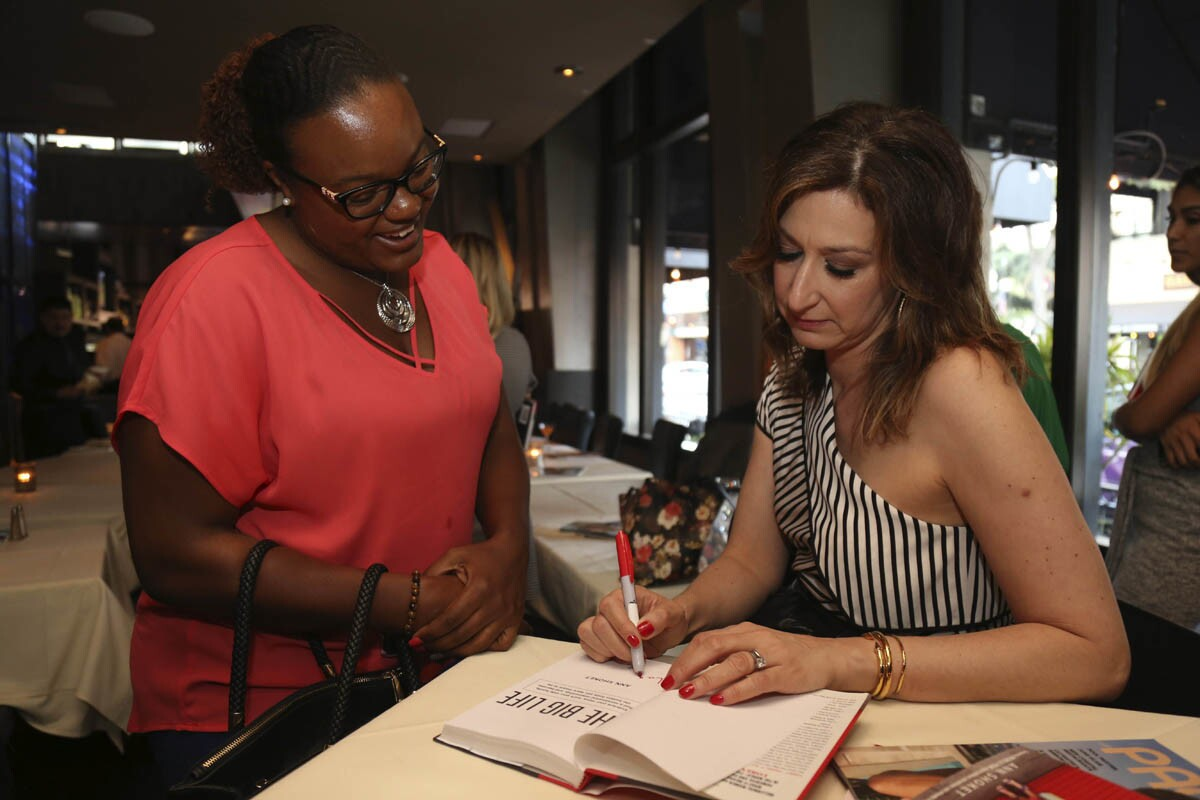 """Ann Shoket (former editor-in-chief of Seventeen magazine and guest judge on America's Next Top Model) stopped by San Diego to promote her new book """"The Big Life"""" during a gathering of millennial women on June 20, 2017 at Osetra in downtown. (David Brooks)"""