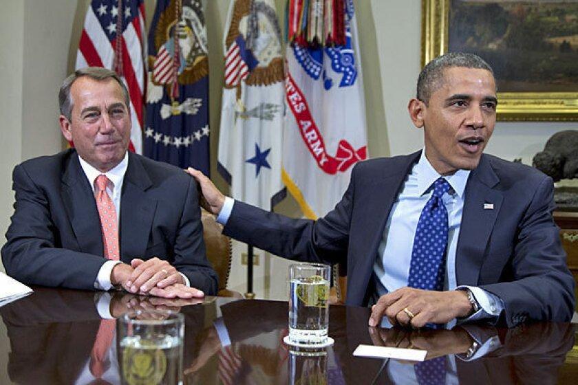 House Speaker John A. Boehner and President Obama at the White House in November.