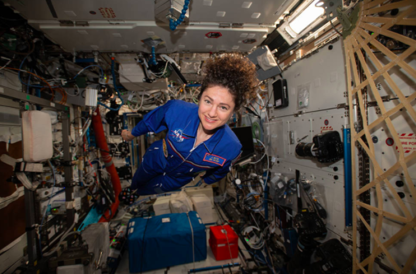 Astronaut Jessica Meir is scheduled to return to Earth on Thursday after serving six months aboard the International Space Station.