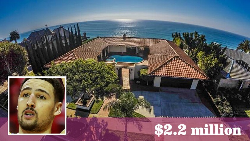 The Golden State Warriors guard paid $2.2 million for an ocean-view home in the Capo Beach area of Dana Point.