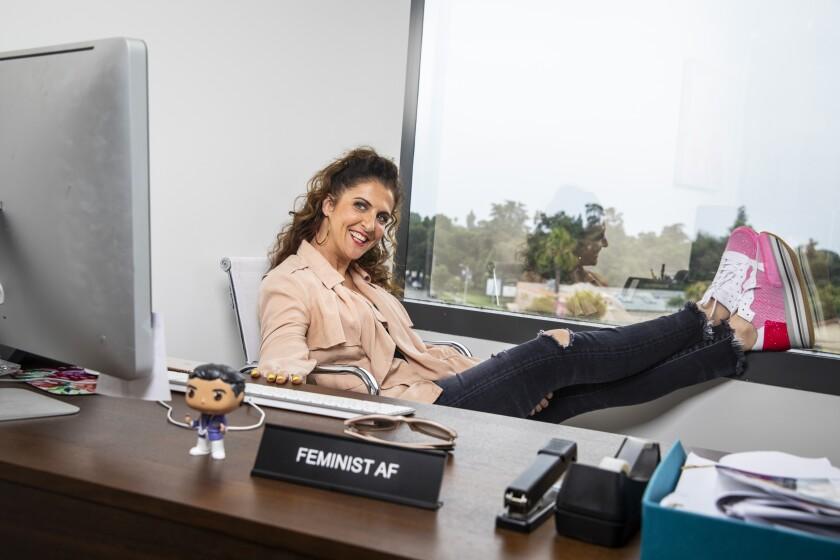 "Jennie Snyder Urman, ""Jane the Virgin showrunner, at her desk."