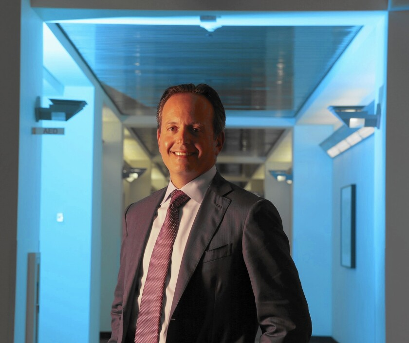 CEO Brent Saunders at Allergan's Irvine campus, which he characterized as crucial for the newly minted organization.