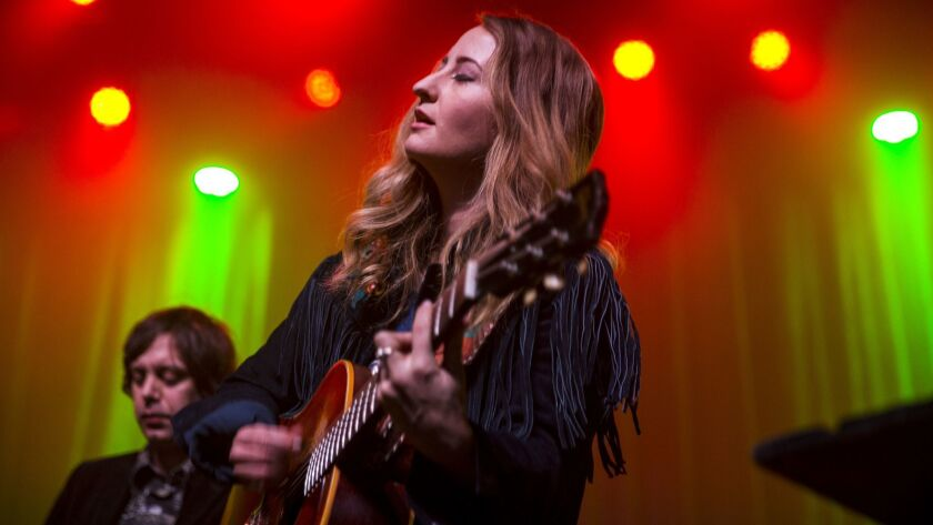 LOS ANGELES, CA - MARCH 01: Margo Price performs at The Fonda Theatre on March 01, 2018 in Los Angel