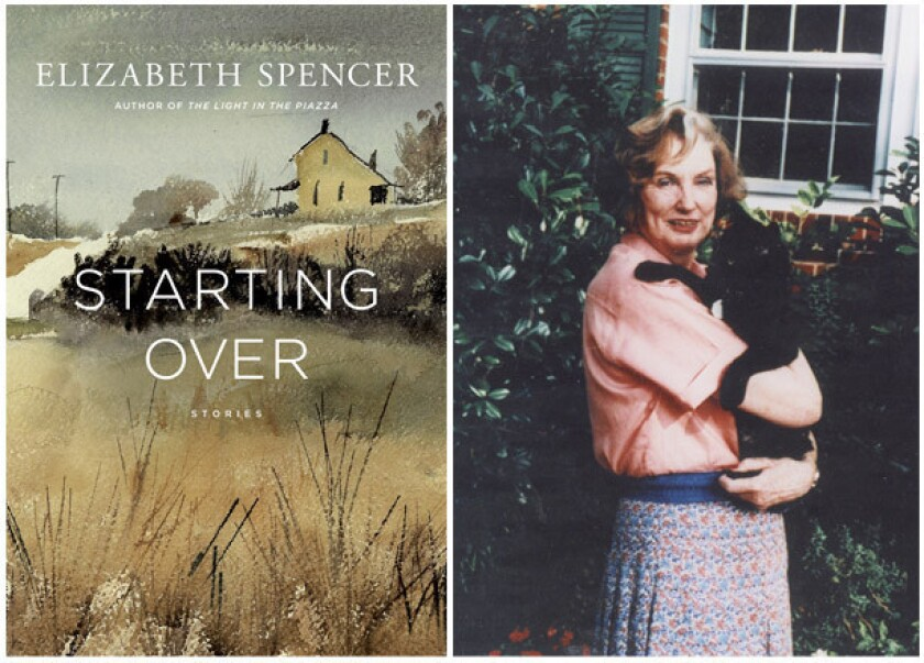 """The cover of """"Starting Over"""" and author Elizabeth Spencer."""