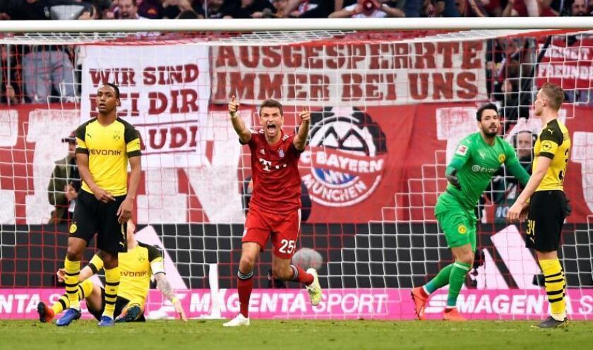 El Bayern Múnich da un golpe de autoridad goleando al Borussia Dortmund (5-0)