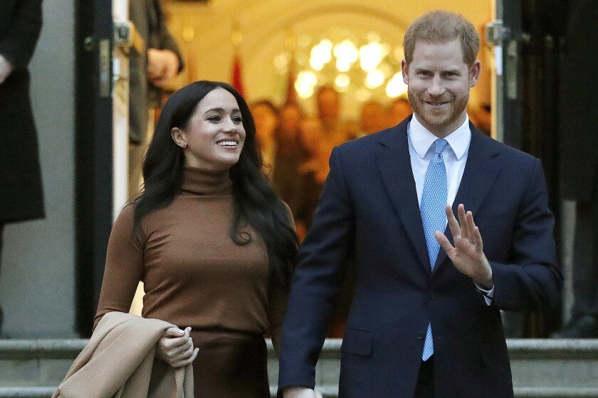 Meghan, Duchess of Sussex, and Prince Harry.