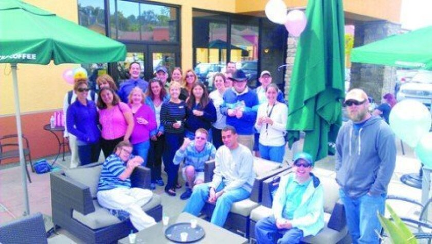 A few of the attendees at the Starbucks patio party. Courtesy photos
