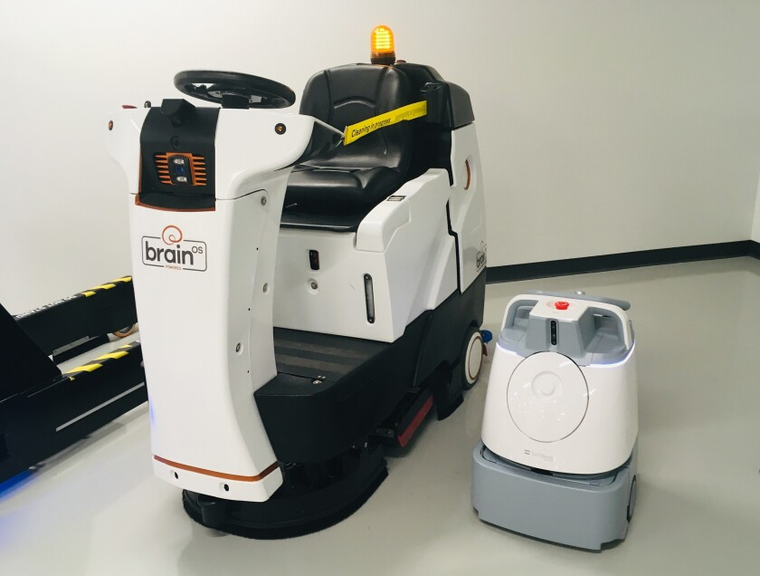 Brain Brothers: Brain Corp., makes a software operating system for mobile robots. It top market is large venue floor cleaners. This spring, it partnered with Softbank Robotics to power the Whiz, a trash can sized vacuum targeting the small retail and office spaces. Mike Freeman