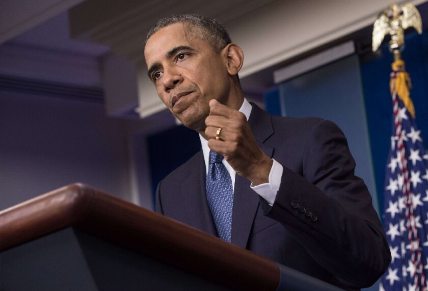 """President Obama is seen during a news conference on Aug. 1 in which he admitted that the U.S. """"tortured some folks."""""""