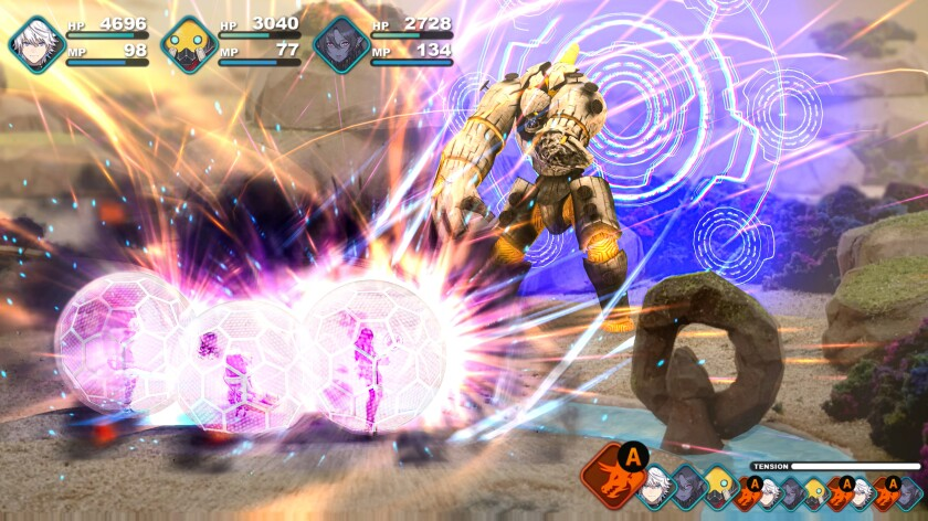 A video game screen shot, with animated figures and numbers indicating scores.