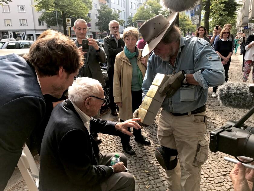 Stolpersteine ceremony in Berlin