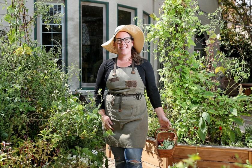 Santa Ana resident Ashley Irene is a culinary gardener who designs seasonal vegetable gardens year round.